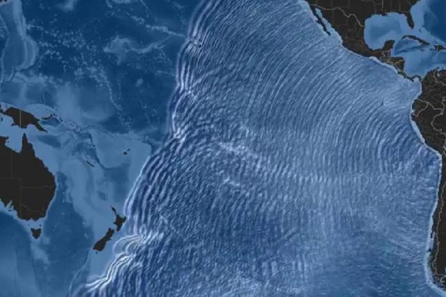 Vídeo simula propagação de tsunami após terremoto no Chile PTWC/Reprodução Youtube