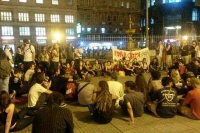 Bloco de Luta decide desmanchar acampamento em Porto Alegre Shana Sudbrack/Agencia RBS