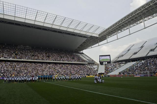 Antes da Copa do Mundo, Fifa quer mais uma partida no Itaquerão Nelson Almeida/AFP
