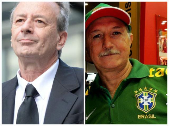 """Mario Sergio Conti: """"Pensei realmente que era o Scolari"""" Divulgação e Reprodução do Facebook/ Montagem sobre fotos"""