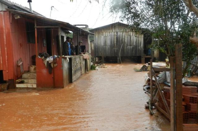 Defesa Civil do RS monitora 29 municípios devido à chuva Prefeitura de Cruzaltense/Divulgação