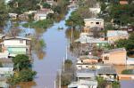 Veja fotos aéreas da enchente em Uruguaiana