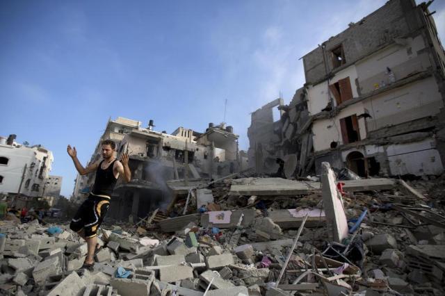 """Presidente da Autoridade Palestina pede que ONU coloque área sob """"proteção internacional"""" MOHAMMED ABED/AFP"""
