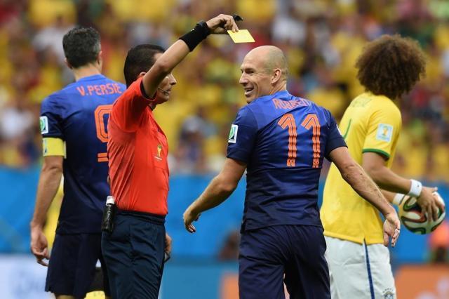 "Márcio Chagas sobre o árbitro de Brasil x Holanda: ""Foi o protagonista negativo"" VANDERLEI ALMEIDA/AFP"