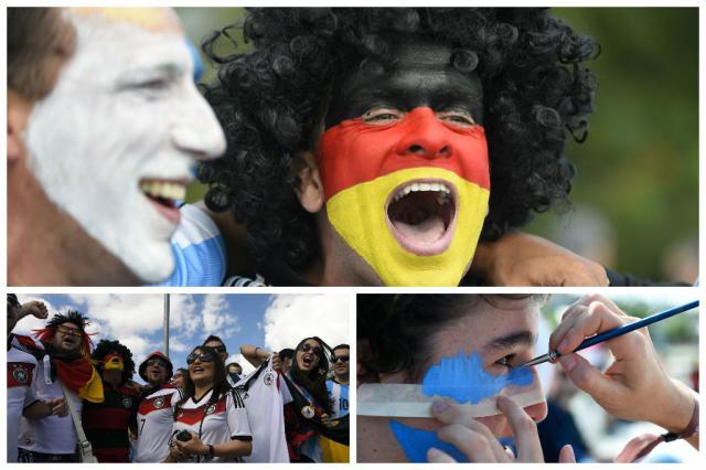 AO VIVO: acompanhe o pré-jogo da final da Copa, entre Alemanha e Argentina Montagem sobre fotos de PEDRO UGARTE/AFP
