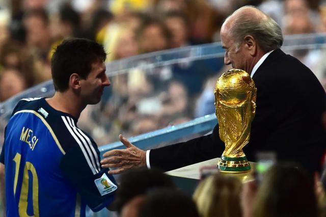 Mesmo vice, Messi é eleito o melhor jogador da Copa do Mundo NELSON ALMEIDA/AFP