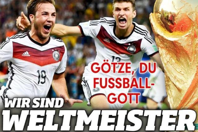 """""""Götze, o deus do futebol"""": veja a repercussão do título na imprensa alemã Reprodução/www.bild.de"""