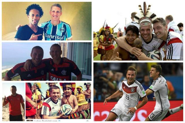 Cinco motivos para não esquecer a passagem da Alemanha pelo Brasil Montagem sobre imagens do Twitter, Instagram e AFP/