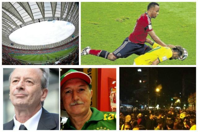 As matérias de Copa mais lidas no site de ZH Montagem sobre fotos de Agência RBS, AFP e divulgação/