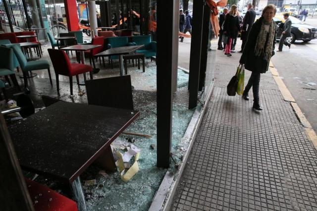 Após Argentina perder a final da Copa do Mundo, Buenos Aires registra atos de vandalismo Emerson Souza/Agencia RBS