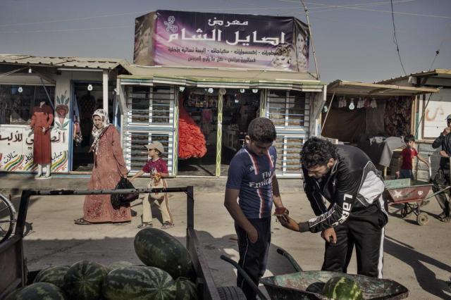 Campo de refugiados ganha cara de cidade na Jordânia Adam Ferguson/NYTNS