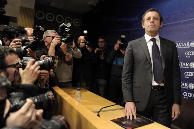Ex-presidente do Barça depõe sobre contratação de Neymar JOSEP LAGO/AFP