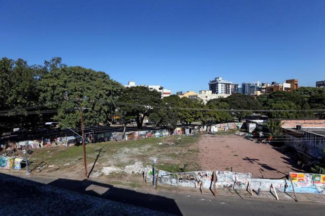Ocupação de terreno impede obras da Terreira da Tribo na Cidade Baixa Diego Vara/Agencia RBS