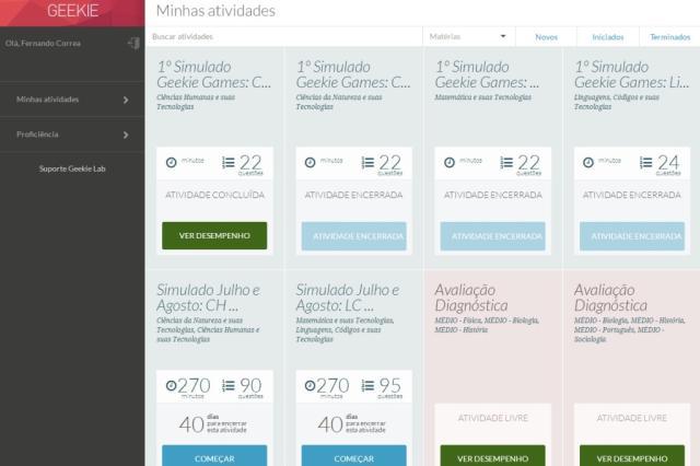 Sites prometem conteúdo adaptativo e testes inteligentes para o Enem Reprodução/