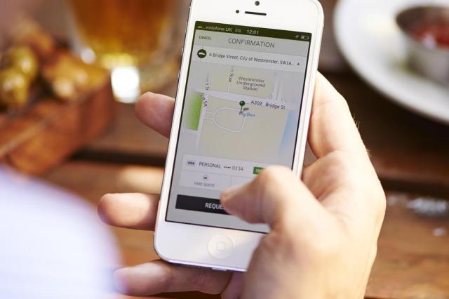 """Aplicativo de """"carona paga"""", Uber é considerado desleal por taxistas Uber/Divulgação"""