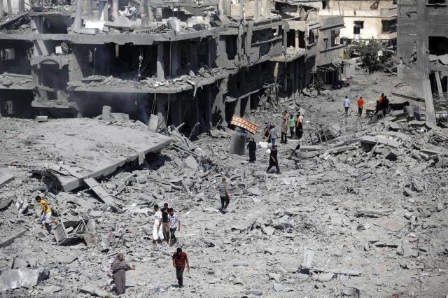 Mais de 70 corpos são retirados de escombros em Gaza durante trégua Mohammed Abed/AFP