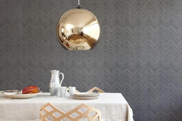 Estampa chevron, tendência internacional, assume papel versátil na decoração Bobinex/Divulgação