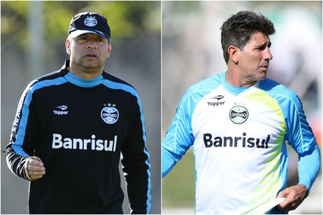 Celso Roth e Renato ainda não foram procurados pelo Grêmio Montagem sobre fotos /BD ZH