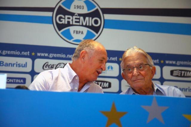 Para trazer Felipão de volta, Fábio Koff prometeu que ficará no Grêmio mais dois anos Lucas Uebel/Gremio.net