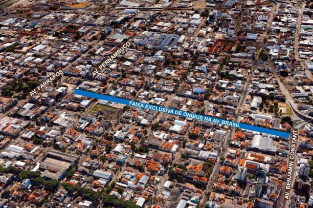 Avenida Brasil terá faixa exclusiva de ônibus a partir de segunda-feira Divulgação/PMPA