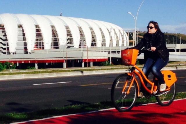 Estação de aluguel de bikes ao lado do Beira-Rio será instalada em agosto Thalles Campos/Divulgação PMPA/Divulgação