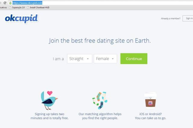 Site de encontros online admite ter feito experiências com usuários reprodução/ok cupid