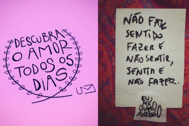 Poesia é pop: conheça as mentes por trás dos versos na sua timeline Um cartão - Eu me chamo Antônio/Instagram