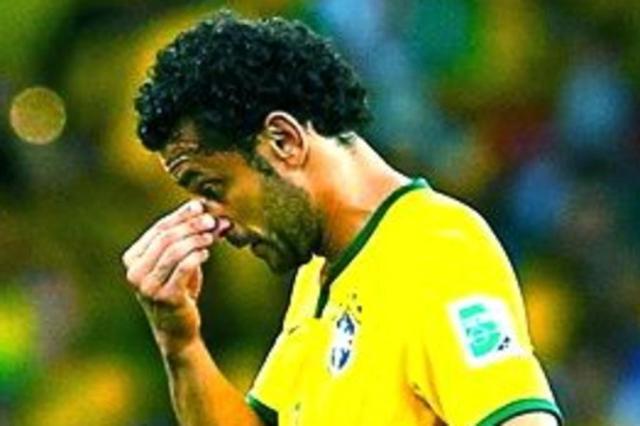 Atacante da Seleção na Copa, Fred treina entre os reservas no Fluminense Reprodução/Reprodução