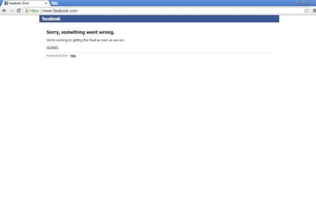 Facebook fica fora do ar e usuários reclamam (no Twitter) Reprodução/facebook.com