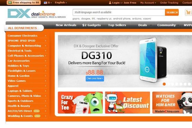 Site chinês DealExtreme abrirá depósito no Brasil Reprodução/DX.com