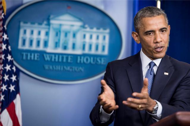 Obama pede libertação de soldado israelense e maior proteção de civis em Gaza BRENDAN SMIALOWSKI/AFP