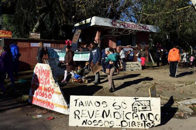 BM não aparece e reintegração de posse em Porto Alegre é adiada Fernando Gomes/Agencia RBS