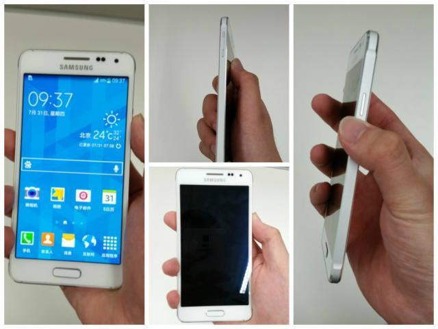 Supostas imagens do Galaxy Alpha vazam e mostram aparelho com bordas de metal Reprodução/Weibo