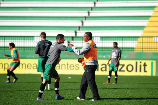 Descontração na Chape na véspera do confronto contra o Atlético Mineiro Sirli Freitas/Agencia RBS