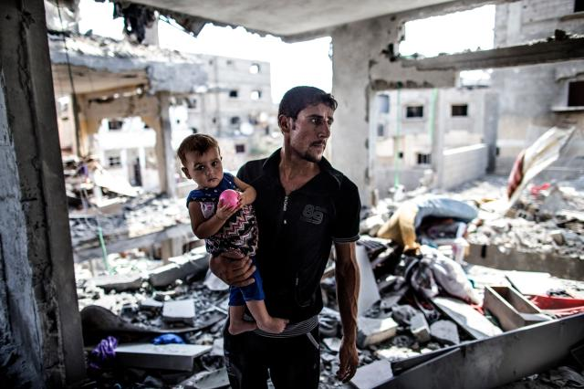 Israel e palestinos acertam nova trégua de 72h na Faixa de Gaza MARCO LONGARI/AFP
