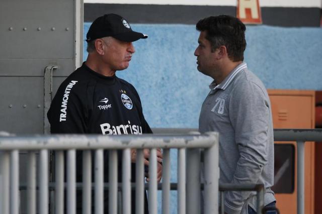 FOTO: Carlos Miguel reencontra Felipão no Estádio Olímpico Mauro Vieira/Agencia RBS