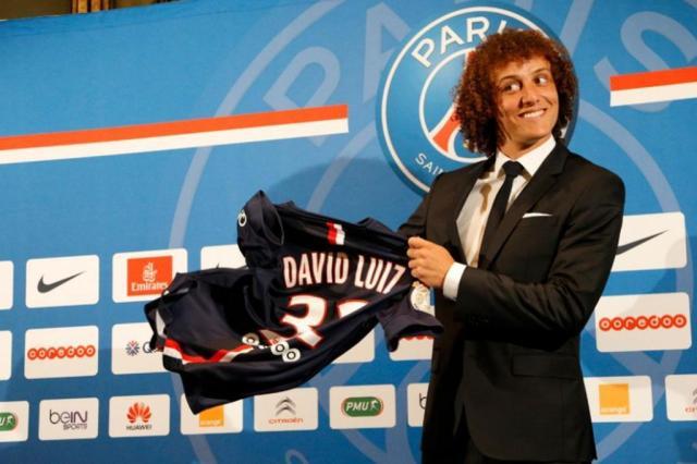 David Luiz chega ao PSG querendo deixar para trás decepção com a Copa C.Gavelle/PSG
