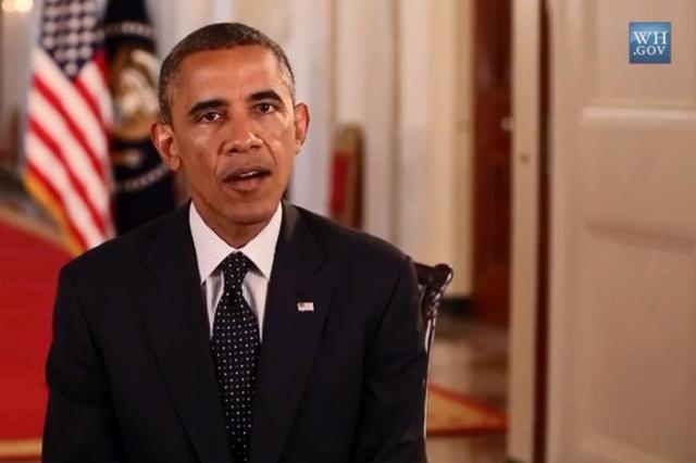 Obama diz que não há data prevista para fim dos ataques no Iraque Reprodução/Casa Branca