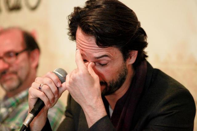 Rodrigo Santoro se emociona ao ser homenageado em Gramado  Cleiton Thiele/Press Photo