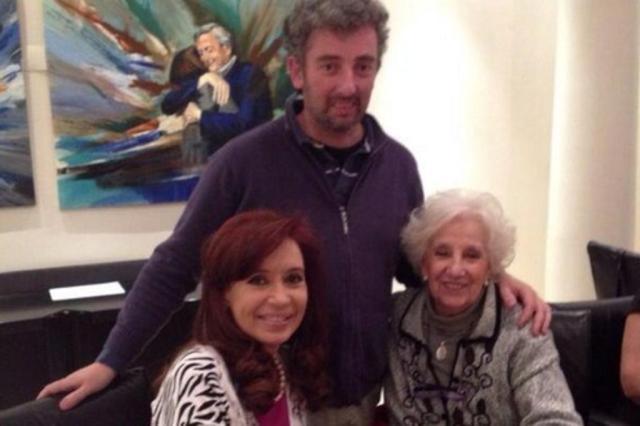 Presidente argentina recebe neto da líder das Avós da Praça de Maio Reprodução/Reprodução