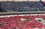 Torcida danifica 25 cadeiras no Beira-Rio, e Grêmio pagará R$ 7,5 mil Omar Freitas/Agencia RBS