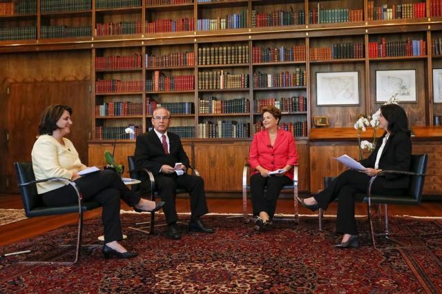 Painel RBS Especial Eleições entrevista Dilma Rousseff Ichiro Guerra/Divulgação