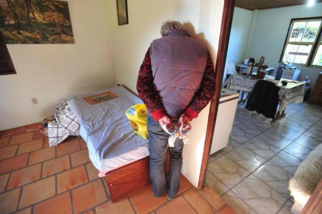 Agricultora ficou cerca de 20 minutos sob a mira de armas Jean Pimentel/Agencia RBS