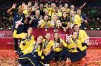 Impecáveis, meninas do Brasil conquistam 10° título do Grand Prix de Vôlei KAZUHIRO NOGI/AFP
