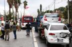 Sete veículos colidem na Avenida Padre Cacique, em Porto Alegre (Tadeu Vilani/Agencia RBS)