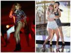 Beyoncé e Taylor Swift curtem show de Justin Timberlake  Divulgação/