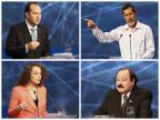 Nanicos levantam temas polêmicos, principais candidatos evitam Montagem sobre fotos de Miguel Schincariol/AFP/