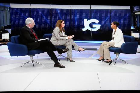 """""""Vivemos em um Estado laico que não pode permitir discriminação"""", diz Marina ao Jornal da Globo (Reprodução/Reprodução)"""
