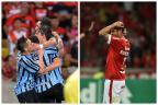 David Coimbra: Grêmio toma forma, Inter se desmancha Montagem sobre fotos de  Fernando Soutello/AGIF e Bruno Alencastro/