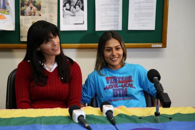 Solange e Sabriny formam o primeiro casal gay que trocará alianças em CTG Carlos Macedo/Agencia RBS
